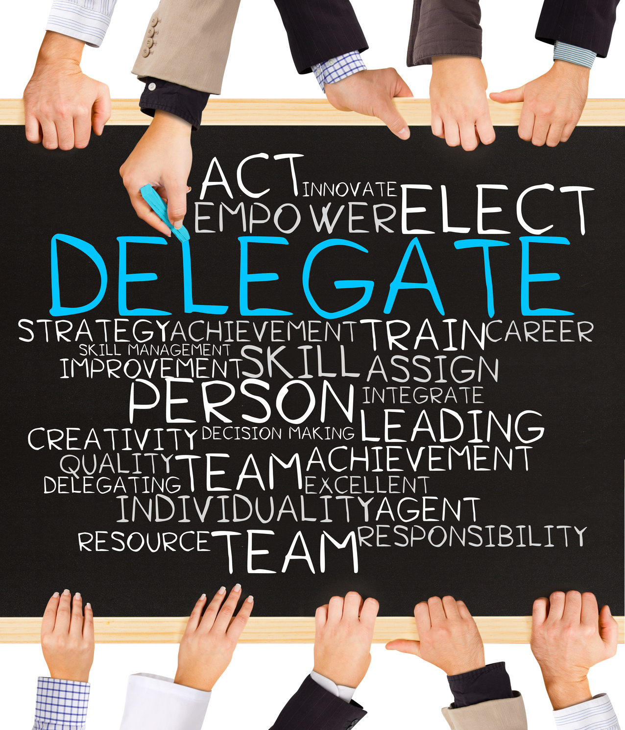 To save time delegate